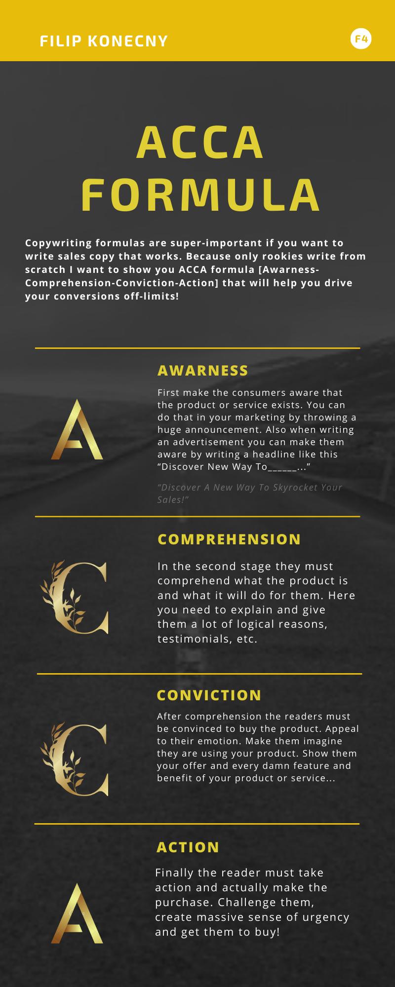 ACCA copywriting formula