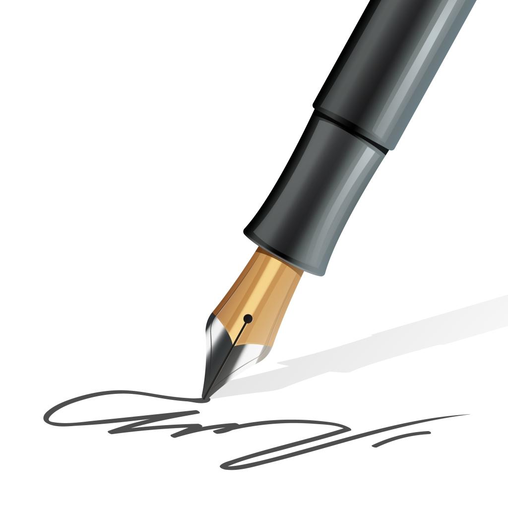 fountain pen, signature