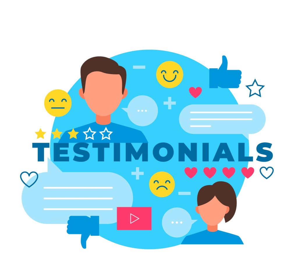 picture showing testimonials
