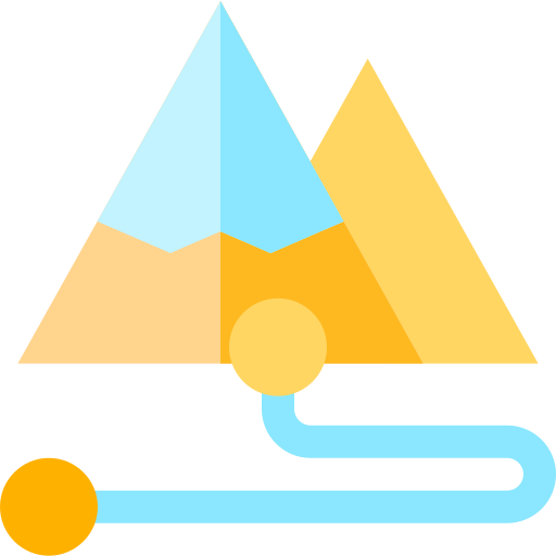 Two mountains demonstrating a goal