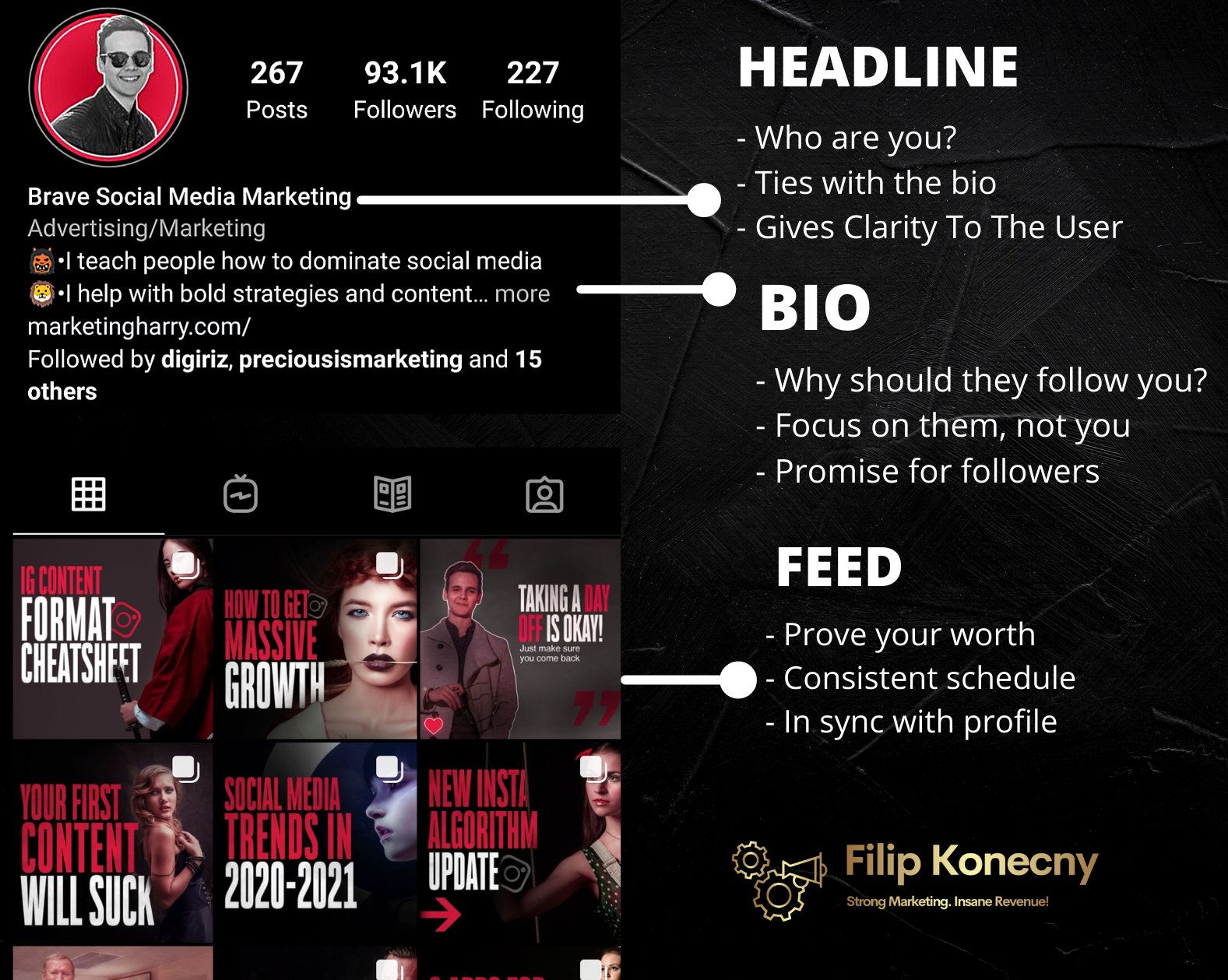 Profile optimization infographic