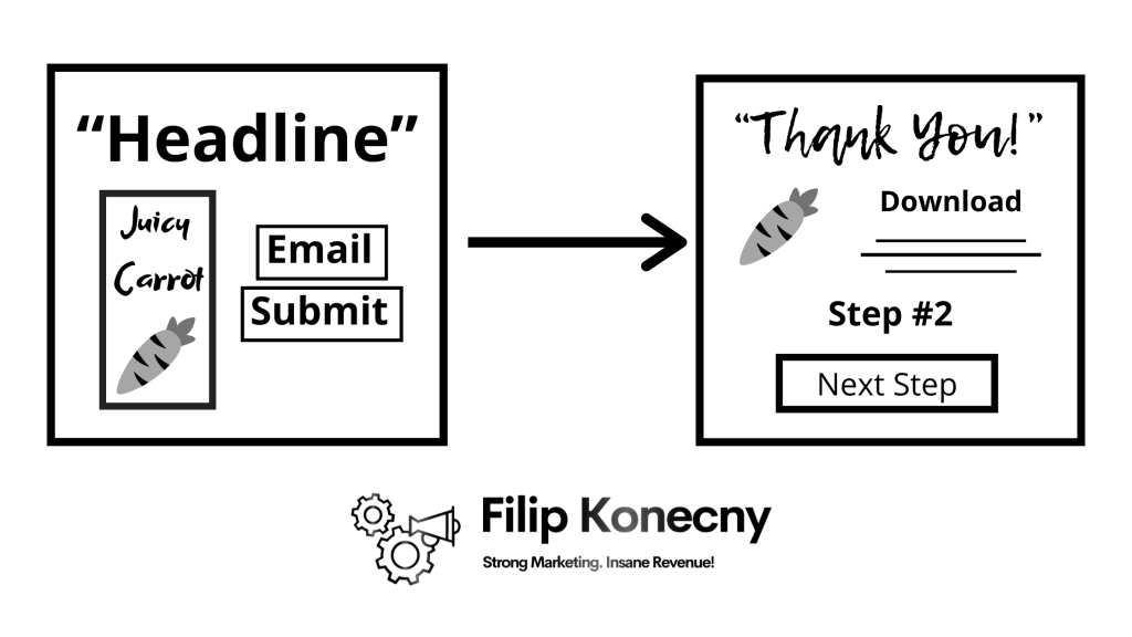 Lead squeeze funnel infographic