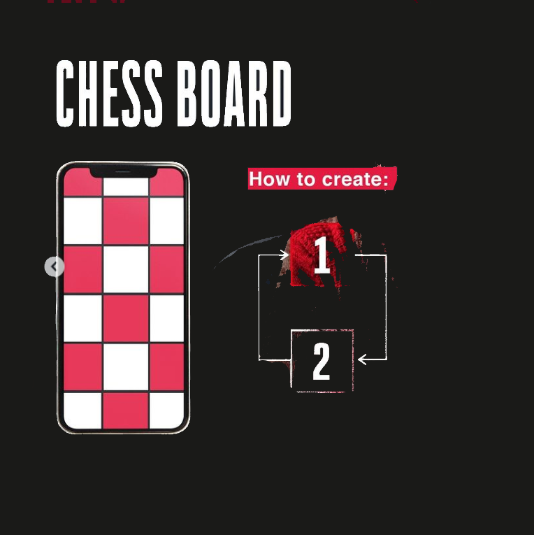 chessboard feed layout infographic