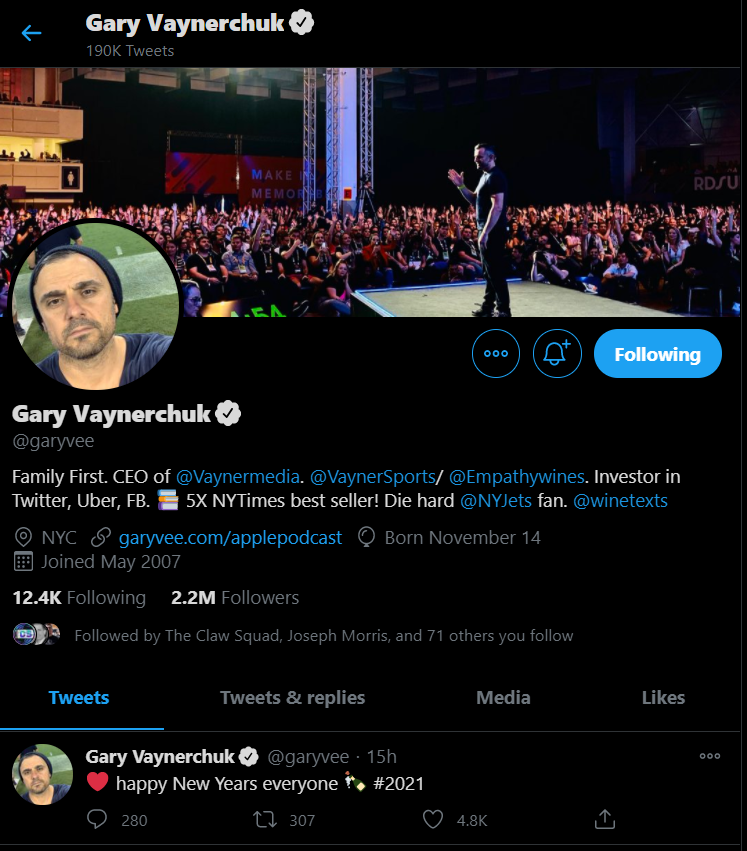 Gary Vee profile