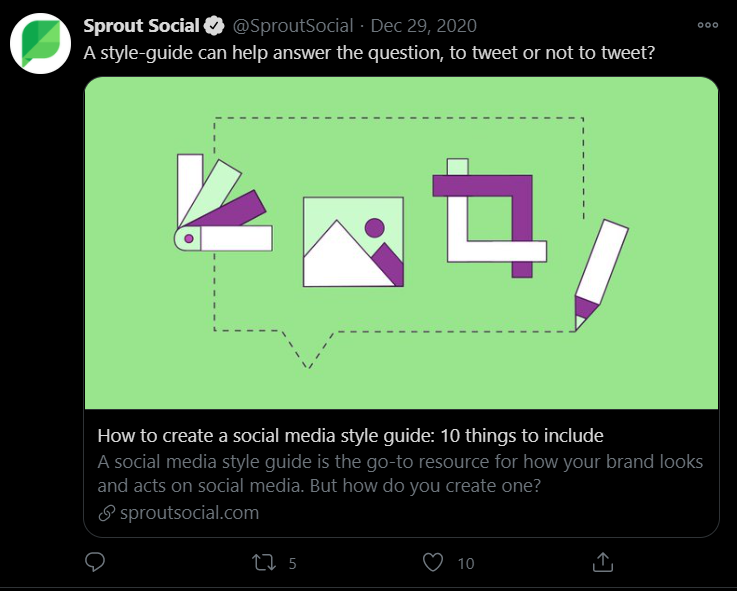 sprout social twitter post