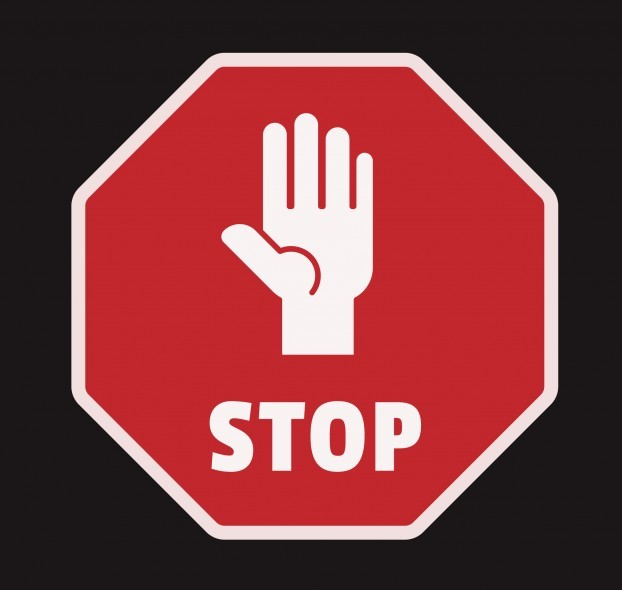 Hand stopping signal