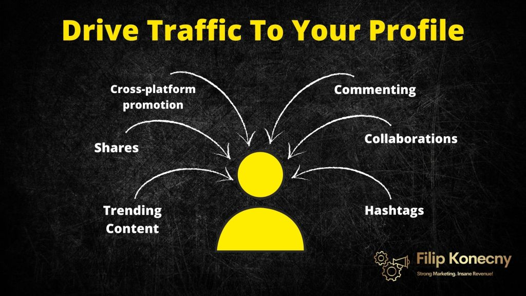 driving traffic to your Instagram profile