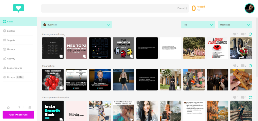 Dollar eighty homepage with new posts