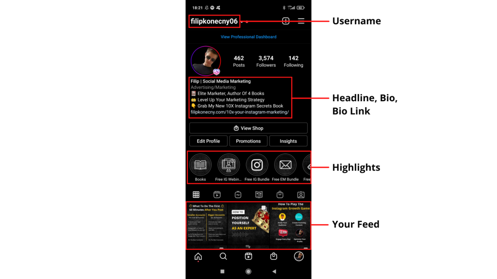 Optimizing your instagram profile for conversion rate
