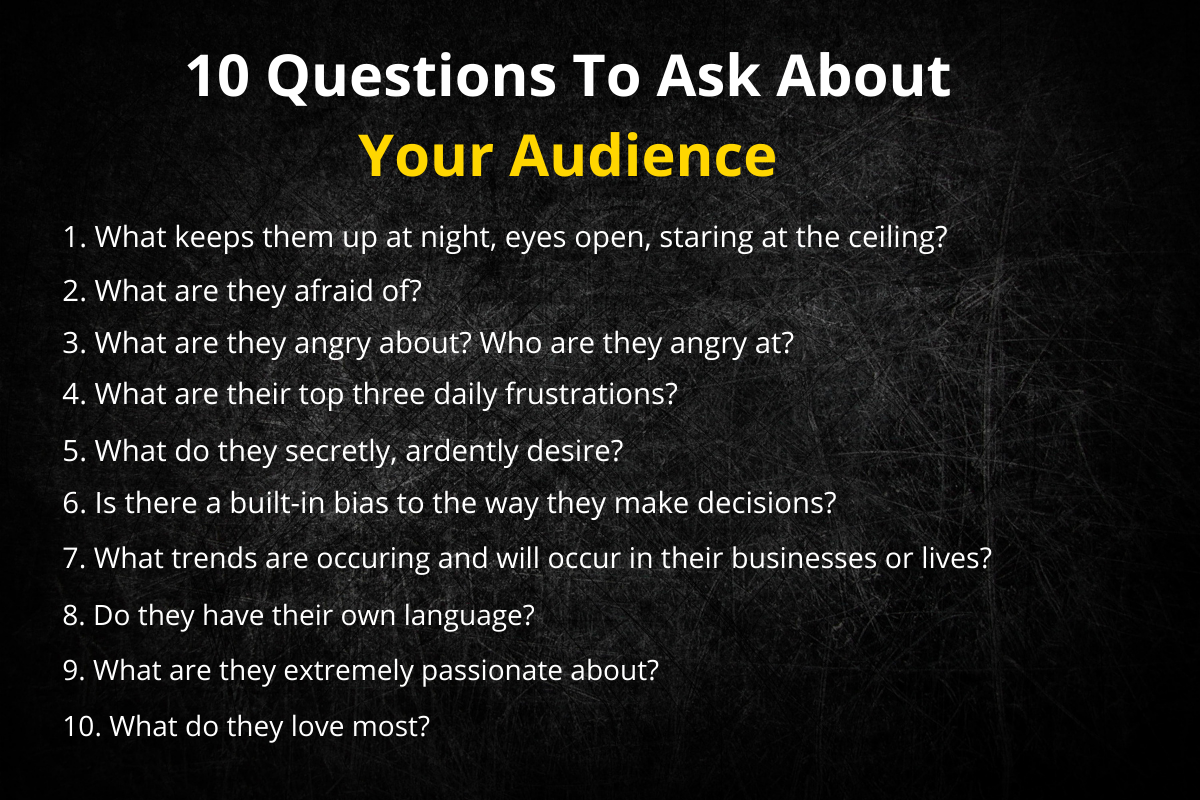 10 questions to ask about your audience