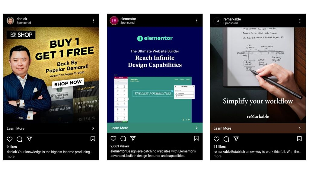 Examples of Instagram ads that work