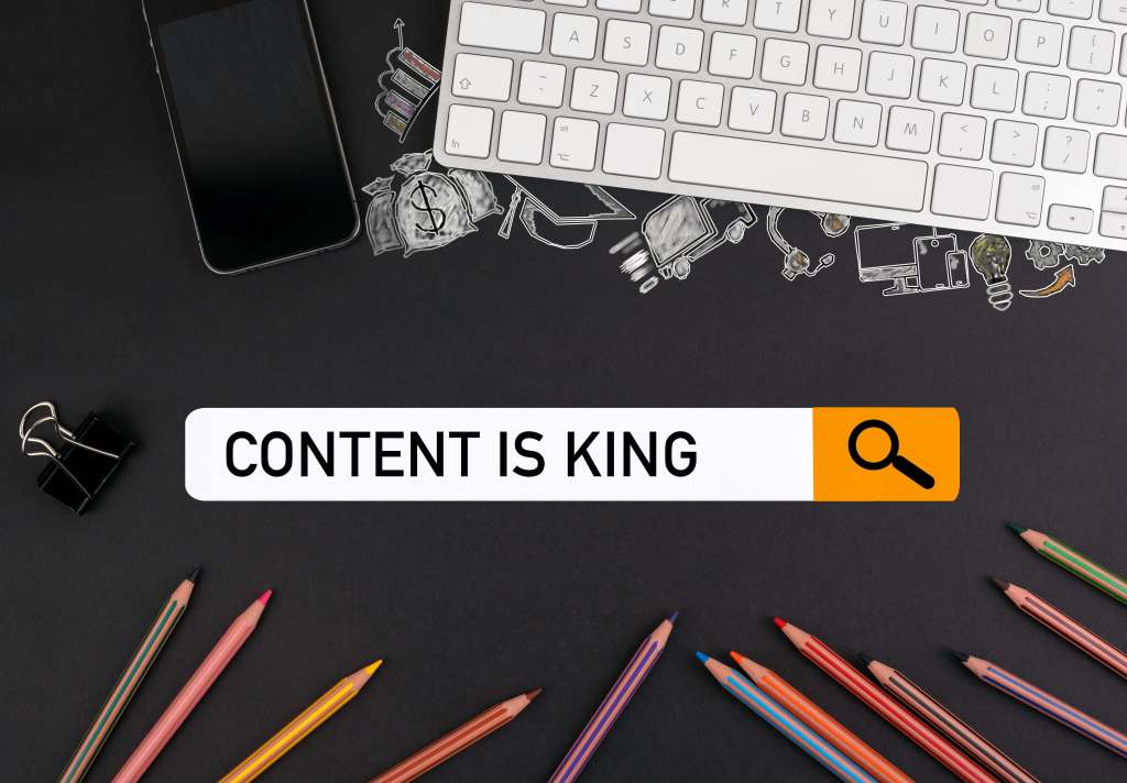 content is king search bar