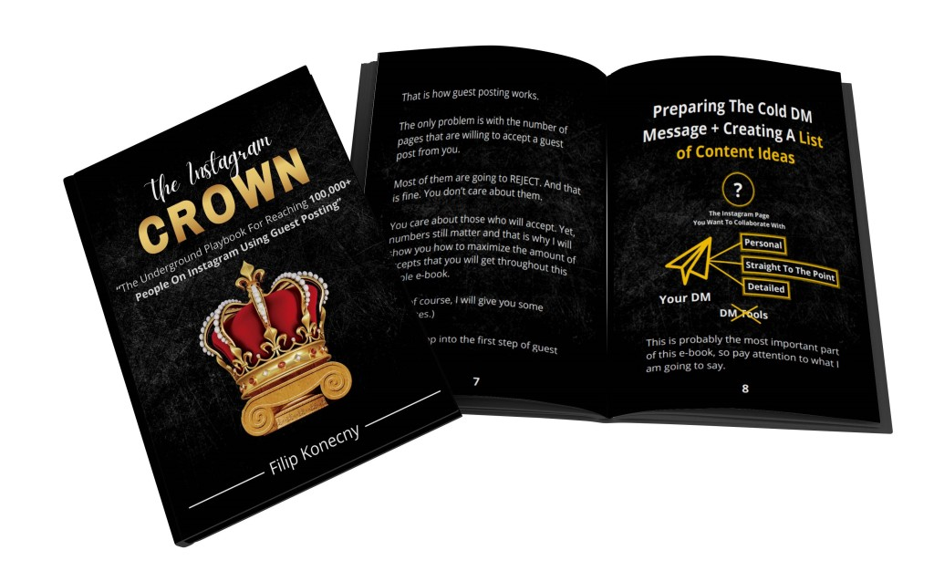 Instagram Crown E-book Opened